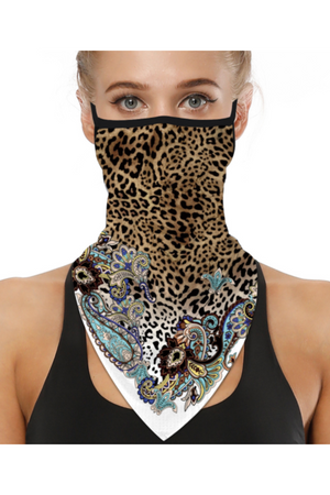 Leopard Chic Face Mask + Gaiter Scarf With Filters (PREORDER)-Health & Wellness-Three Wild Horses-Madison San Diego