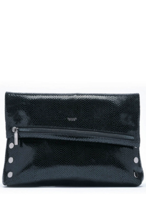 Hammitt VIP Large Crossbody Clutch in Powder with Gunmetal