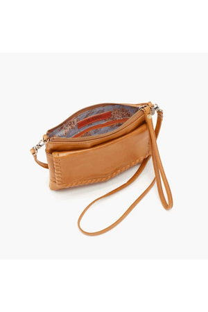 Hobo Stroll Crossbody Wristlet Honey