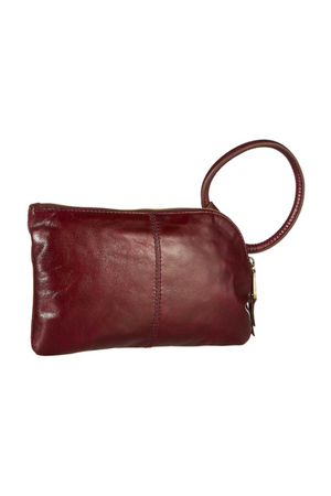 Hobo Sable Wristlet Clutch Deep Plum