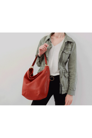 Hobo Meridian Shoulder Bag Sienna Nubuck
