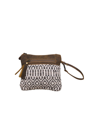 Essentials Leather Canvas Pouch