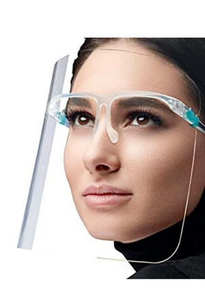 Face Shield Eyeglass Style Clear Face Mask