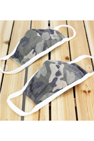 Kid's Camo Cotton Terrycloth  Mask