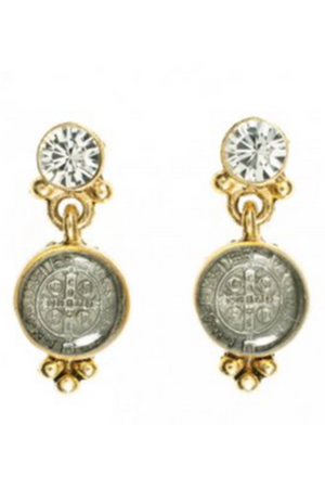 VSA Designs Gold Lucia Post Earrings-Jewelry-VSA-Madison San Diego