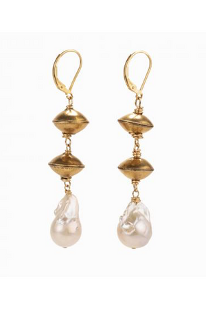 Taylor & Tessier Plumeria Earrings-Jewelry-Taylor & Tessier-Madison San Diego