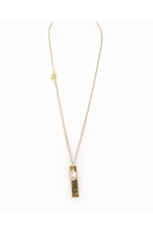Taylor & Tessier Golden Tag Necklace