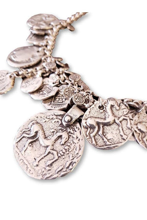 CXC N0043 Horse Coin Necklace-Jewelry-CXC-Madison San Diego