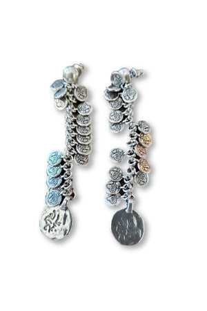 CXC EMET Silver Multi Coin Earrings-Jewelry-CXC-Madison San Diego