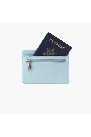 Hobo Euro Slide Wallet Card Holder Whisper Blue