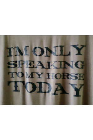 Only Speaking To My Horse Tee Shirt Olive-Madison Private Label-small-Madison San Diego
