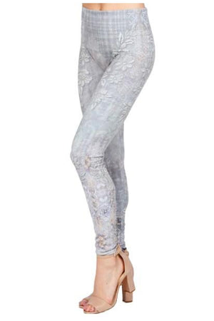 Floral Abstract Print Legging