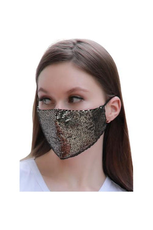 Fashion Bling Face Mask + Filters Gold