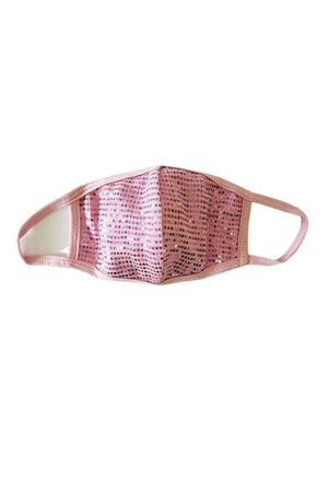 Fashion Face Mask Sparkly Pink