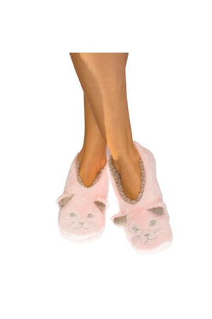Footies Cat Nap Pink