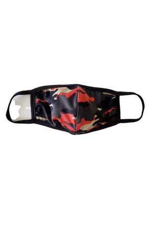 Fashion Face Mask Camouflage with Red