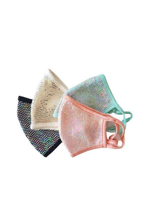 Fashion Sparkly Mermaid Face Mask Black