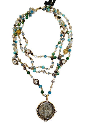 VSA Designs Gold San Benito Lux Magdalena Golden Blue-Jewelry-VSA-Madison San Diego