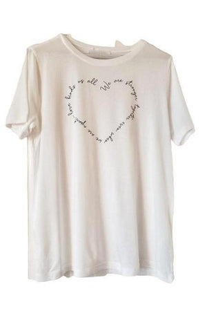 We are Stronger Together Heart Tee Shirt-Three Wild Horses-small-Madison San Diego