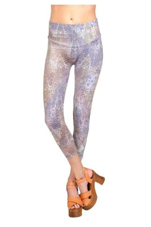 Damask / Cheetah Abstract Print Legging
