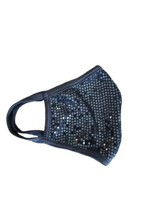 Fashion Sparkly Face Mask Black-Health & Wellness-Madison Private Label-Madison San Diego