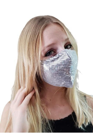 Fashion Bling Face Mask + Filters Taupe
