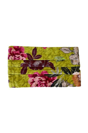 Johnny Was Fashion Face Mask with Filter Chartreuse and Fuchsia Floral