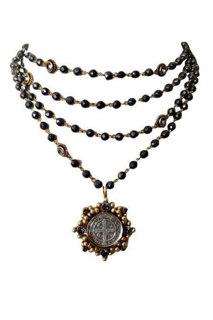 VSA Designs Exclusive Gold San Benito Cloister 6mm Magdalena Necklace-Jewelry-VSA-Madison San Diego