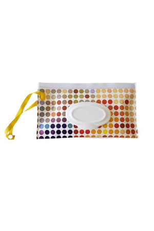 Wet Wipe Wristlet and Car Carry Pouch Polka Dots