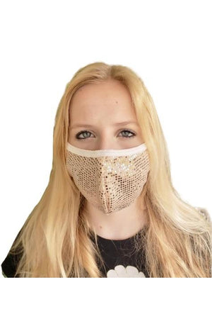 Fashion Sparkly Face Mask Rose Gold-Health & Wellness-Madison Private Label-Madison San Diego