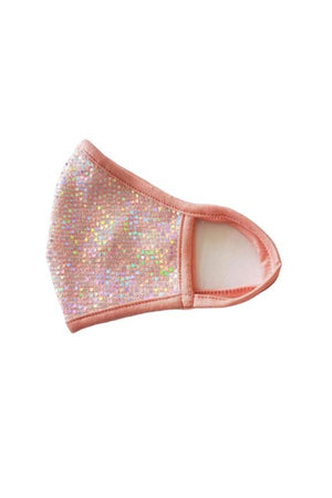 Fashion Sparkly Mermaid Face Mask Coral Pink
