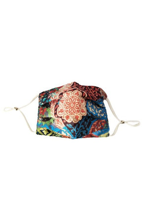 Mandala Fancy Pleated  Face Mask with Filters + Carry Pouch