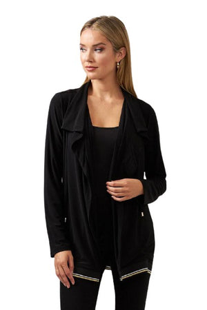 Joseph Ribkoff Black Mesh Cover-up
