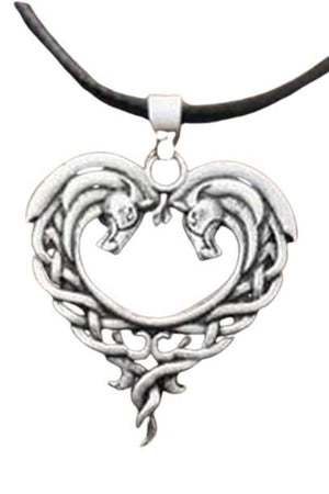 White Smoke Celtic Horse Lords Necklace