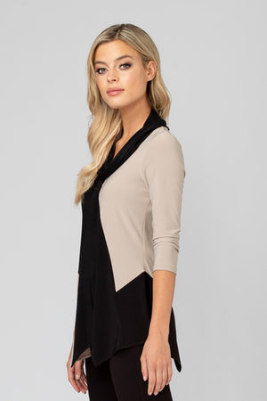 Joseph Ribkoff Black/Beige Top