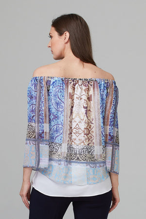 Joseph Ribkoff Off the Shoulder Blouse