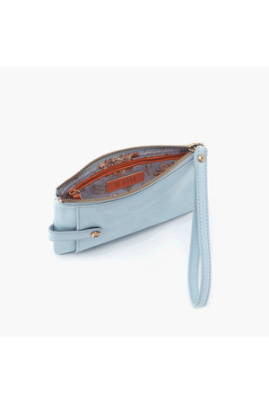Hobo King Wristlet Wallet Whisper Blue
