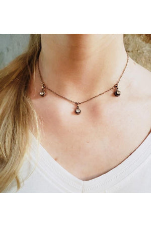 VSA Designs Rose Gold Choker Necklace