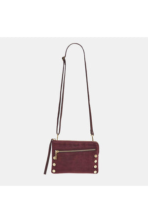 Hammitt Nash Small 2 Plum Croco with Brushed Gold Handbag