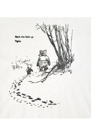 "Pooh + Piglet ""Back the F*** Up"" Funny Tee Shirt-Madison Private Label-small-Madison San Diego"