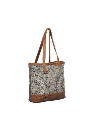 Mandala Art Canvas Tote Bag-Handbag-Myra Bag-Madison San Diego