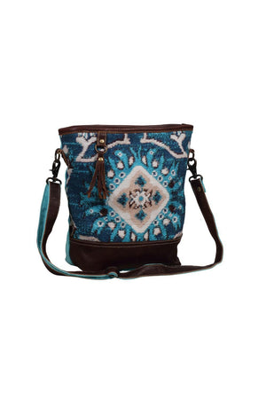 Magic Aqua Canvas Shoulder Bag-Bags-Myra Bag-Madison San Diego