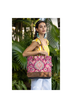 Blossom Flower Art Canvas Tote Bag-Handbag-Myra Bag-Madison San Diego