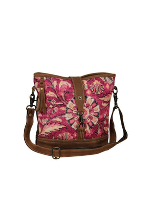 Pink Canvas Shoulder Bag-Bags-Myra Bag-Madison San Diego