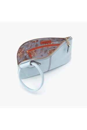 Hobo Sable Wristlet Clutch Whisper Blue