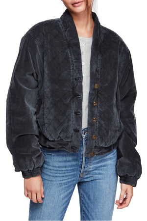 Free People | Main Squeeze Quilted Jacket Black