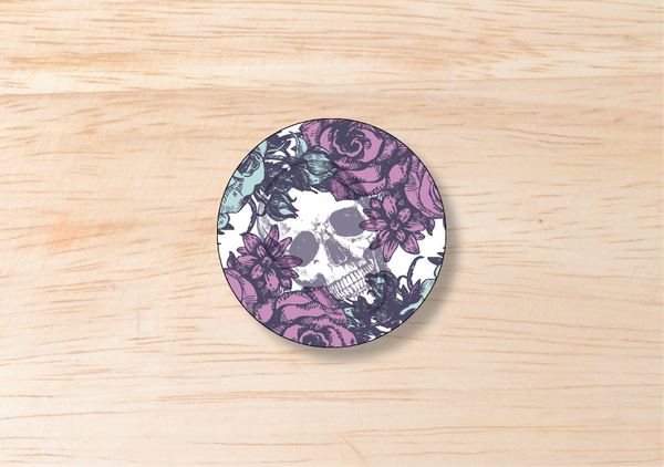 Gothic Round Labels - BlushWeddingsUK