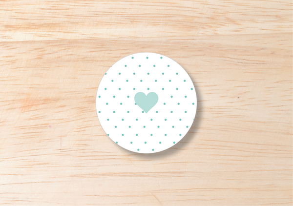 Polka Round Label - BlushWeddingsUK