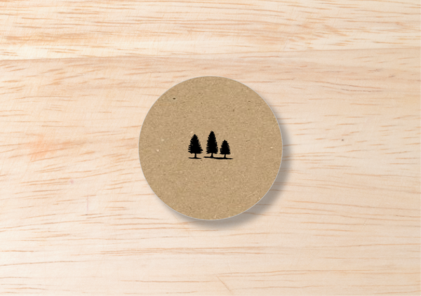 Rustic Round Label - BlushWeddingsUK