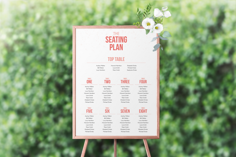 Confetti Seating Plan